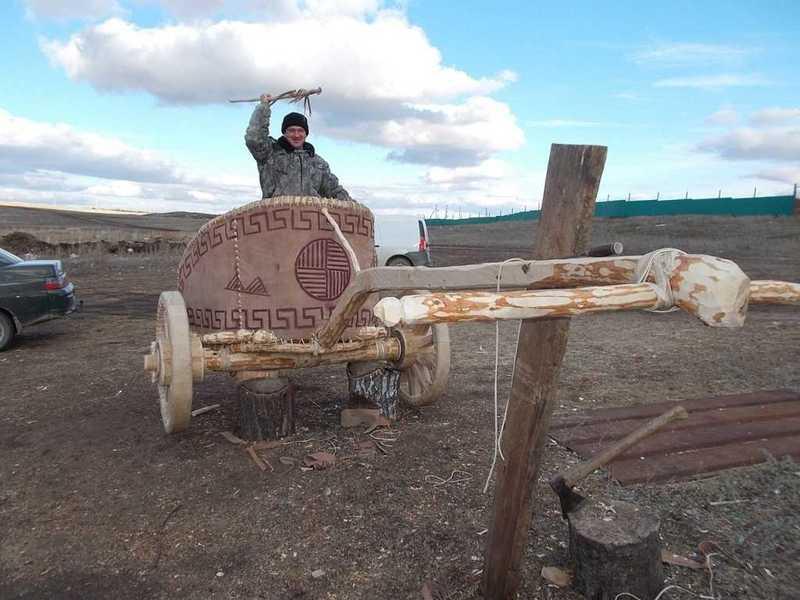 ВЧелябинске построили колесницу кприезду Владимира Путина иНазарбаева